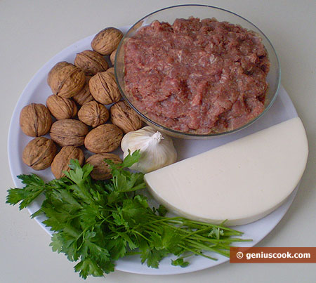 Ингредиенты для мясного рулета