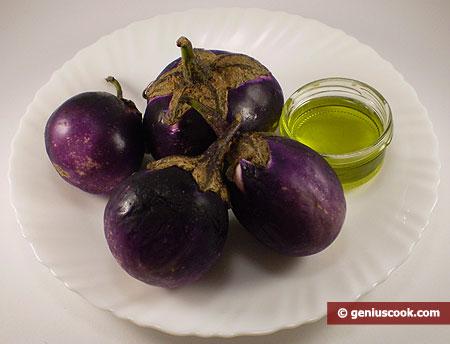 Ингредиенты для баклажанов в оливковом масле