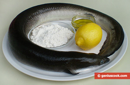 Ингредиенты для жареного угря