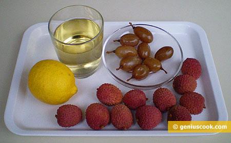 Ингредиенты для аперитива с мартини