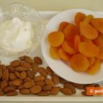 Ингредиенты для десерта с курагой