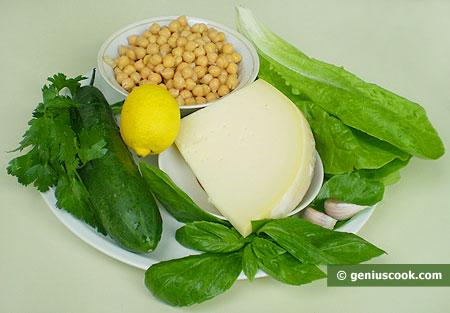 Ингредиенты для салата с нутом
