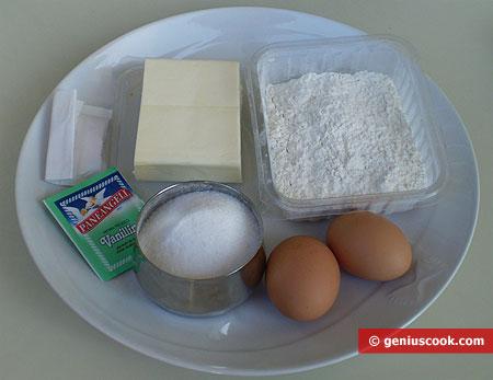 Ингредиенты для домашнего печенья