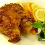 Жареный цыплёнок с шалфеем и лимоном