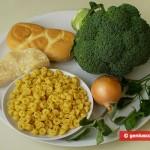 Ингредиенты для запеканки с брокколи и сыром