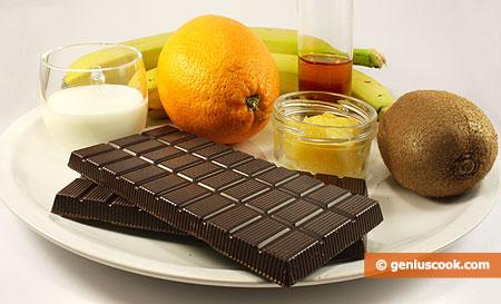 Ингредиенты для десертного фондю