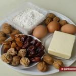 Ингредиенты для коржиков с финиками и орехами