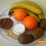 Ингредиенты для салата из тропических фруктов