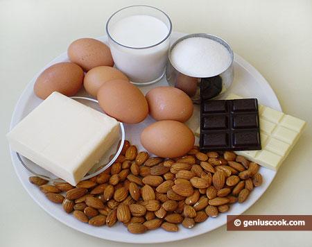 Ингредиенты для миндального торта Эстерхази