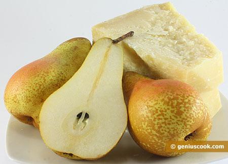 Ингредиенты для карпаччо с грушами