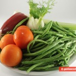 Ингредиенты для стручковой фасоли с овощами
