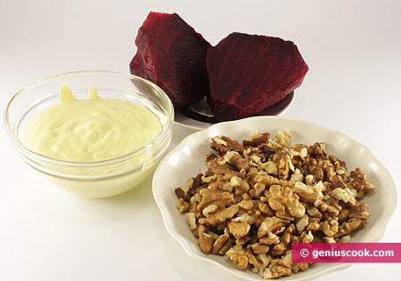 Ингредиенты для салата со свеклой