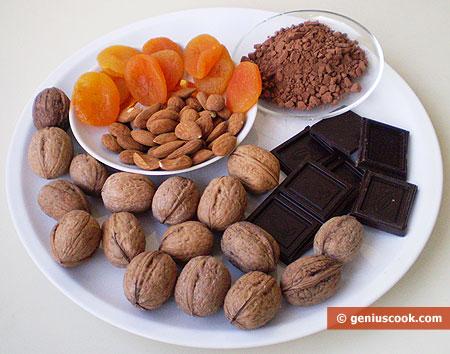 Ингредиенты для шоколадных конфет