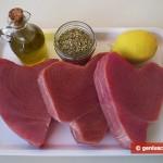 Ингредиенты для тунца гриль