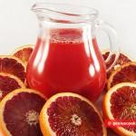 Красные апельсины и сок