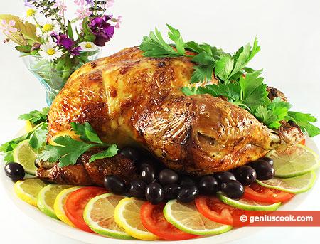 Курица, запечённая в духовке