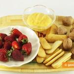 Ингредиенты для десерта с лимонным кремом и клубникой