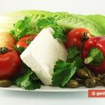 Ингредиенты для греческого салата с каперсами