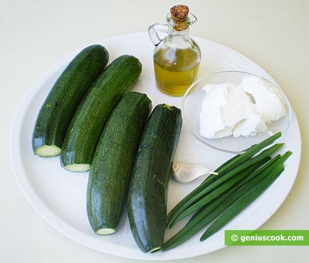 Ингредиенты для цуккини с сыром