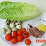 Ингредиенты для закуски из яиц и анчоусов