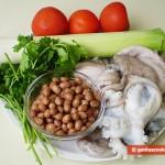 Ингредиенты для москардини с пореем и фасолью