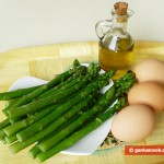 Ингредиенты для фриттаты со спаржей