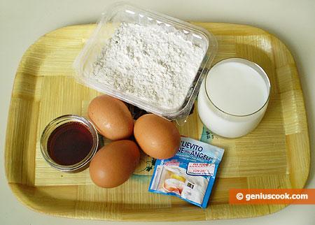 Ингредиенты для американских блинчиков