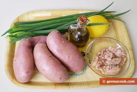 Ингредиенты для картофельного салата