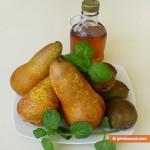 Ингредиенты для салата с кленовым сиропом и грушами