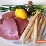 Ингредиенты для тунца со спаржей