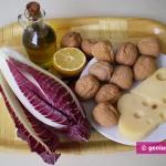 Ингредиенты для радиккьо с сыром и орехами