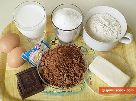 Ингредиенты для шоколадных маффинов