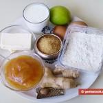 Ингредиенты для американских имбирных пряников