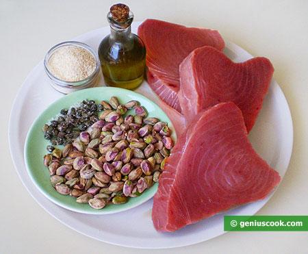 Ингредиенты для филе тунца по-сицилийски