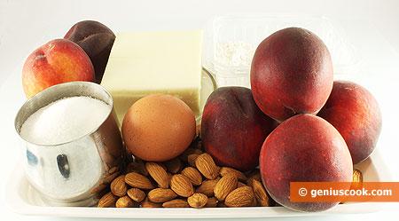 Ингредиенты для персикового пирога