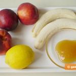 Ингредиенты для сорбета из бананов и персиков