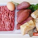 Ингредиенты для крокетов с мясом и картофлелем