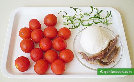 Ингредиенты для фаршированных помидоров