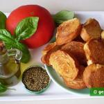 Ингредиенты для брускетты с помидорами