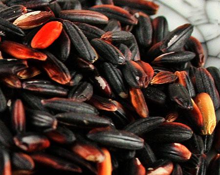 Чёрный рис богат антиоксидантами