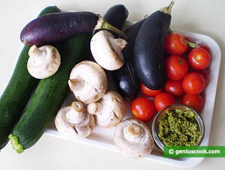 Ингредиенты для овощей гриль