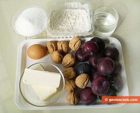 Ингредиенты для сливовой галеты