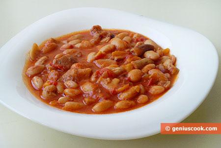 Фасоль с грибами порчини по-итальянски
