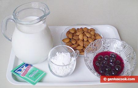 Ингредиенты для молочного киселя