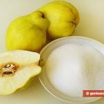 Ингредиенты для айвового конфитюра