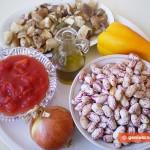 Ингредиенты для фасоли с грибами