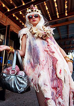 Версия мясного наряда Леди Гага
