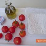 Ингредиенты для фокаччи с помидорами