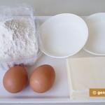 Ингредиенты для песочных корзиночек