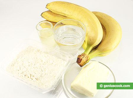 Ингредиенты для бананов в хрустящей корочке